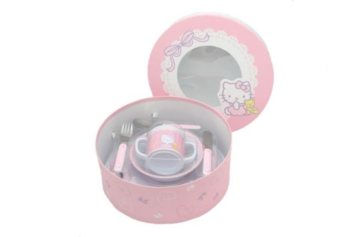 hello kitty baby feeding set