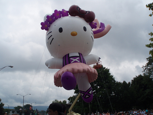 Hello Kitty Balloon at 4th of July 2008 Parade