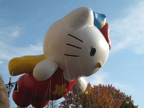 Hello Kitty Balloon at Macy's Parade 2007