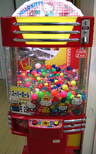 Hello Kitty Bouncy Balls Machine