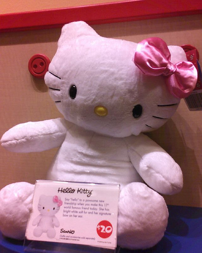 hello kitty at build-a-bear