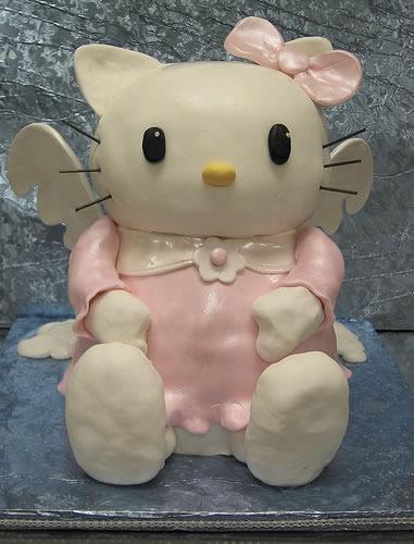 hello kitty angel 3D cake
