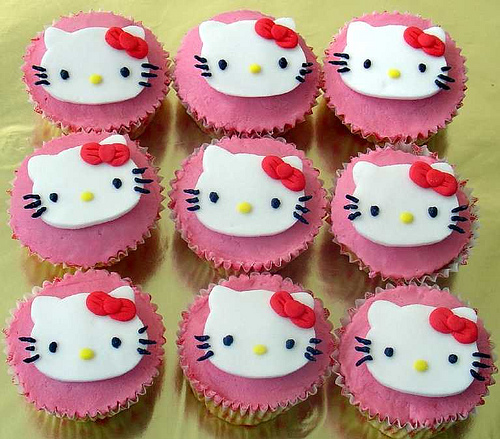 images of hello kitty cakes. hello kitty cupcakes 5