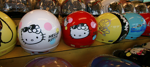 hello kitty helmets