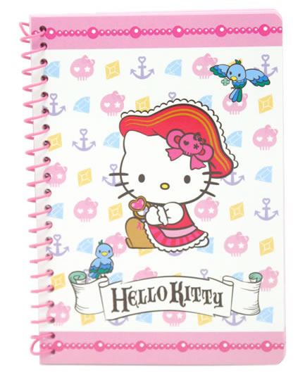 hello kitty pirate notebook