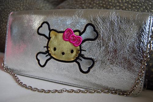 hello kitty pirate silver purse