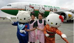 Front of Hello Kitty Airplane