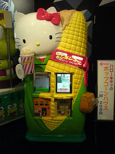 Hello Kitty Popcorn Vending Machine 2