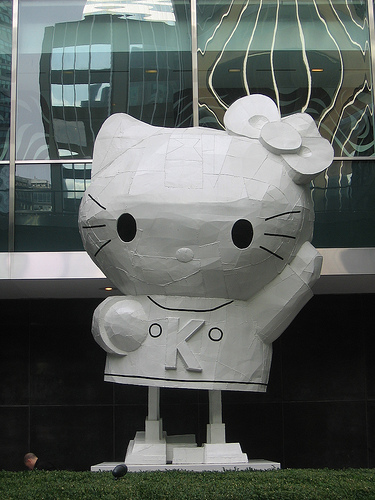 Hello Kitty Statue Outside Lever House