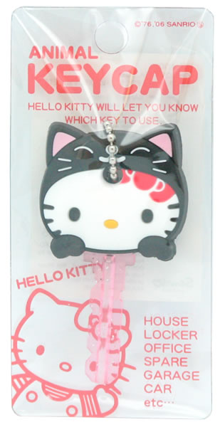 hello kitty black cat animal key cap