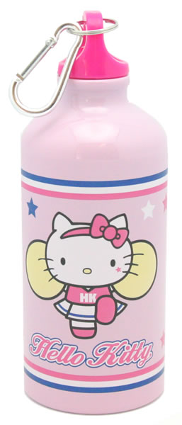 hello kitty cheerleader water bottle