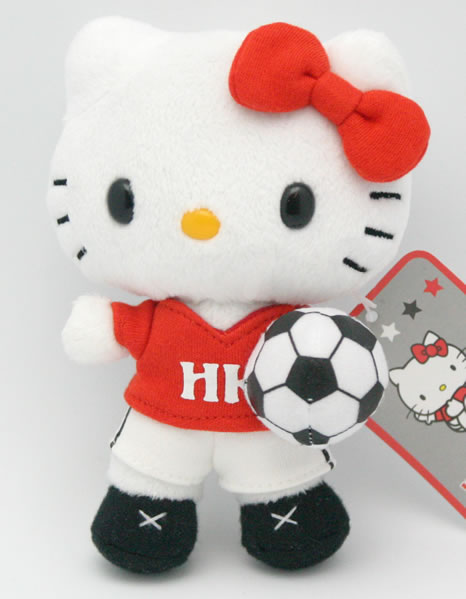 hello kitty soccer doll