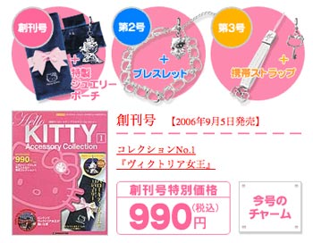 hello kitty accessory collection magazine