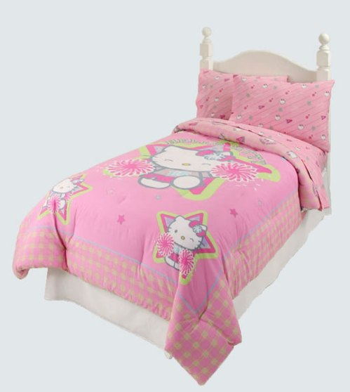 hello kitty cheerleader bedding