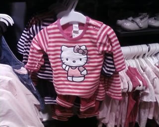 hello kitty striped shirt