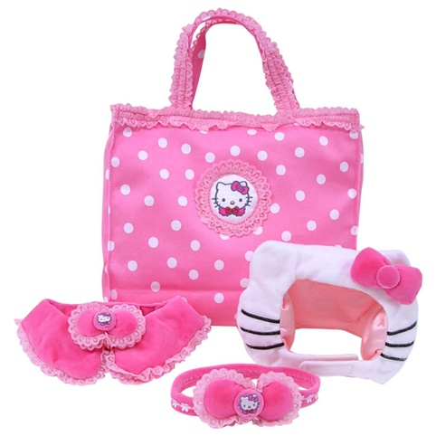 cat in hello kitty pet set