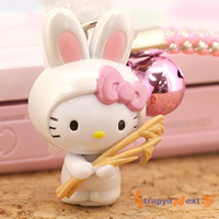 hello kitty cell phone strap, Sanrio Gotouchi Hello Kitty Hakone Limited Susuki Rabbit ($4.20 US)
