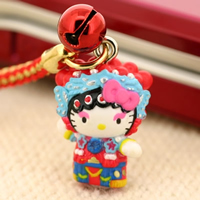 hello kitty cell phone strap, Sanrio Gotouchi Hello Kitty Japan Area Limited Kyogeki / Yokohama Chinatown ($5.25 US)