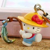 hello kitty cell phone strap, Sanrio Gotouchi Hello Kitty Kanagawa Atsugi Limited Fishing Kitty ($5.25 US)