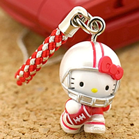 hello kitty cell phone strap, Sanrio Hello Kitty American Football World Championship ($4.73 US)