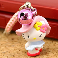 hello kitty cell phone strap, Sanrio Gotouchi Hello Kitty Japan Area Limited Kan Kan Girl ($5.25 US)