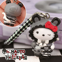 hello kitty cell phone strap, Sanrio Hello Kitty x h. NAOTO Gothloli Punk Kitty Netsuke ($4.20)