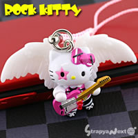 hello kitty cell phone strap, Sanrio Hello Kitty as Rock'n roll Star ($5.78)