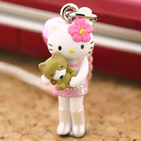 hello kitty cell phone strap, Sanrio Gotouchi Hello Kitty Japan Area Limited Shibuya Girl ($5.25 US)