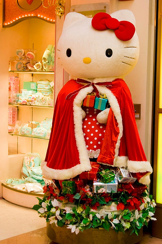 hello kitty christmas doll lifesize