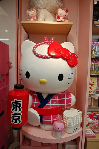 hello kitty looking festive japanese style