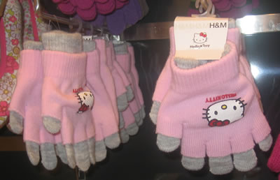 hello kitty at h&m - gloves