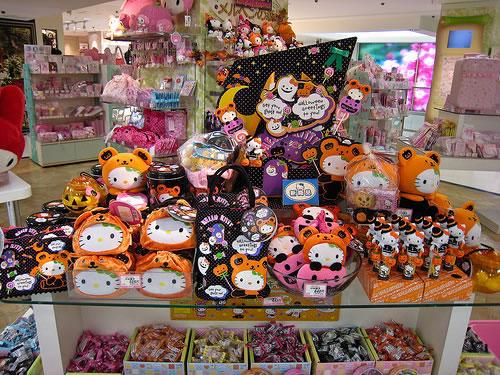 hello kitty halloween store display