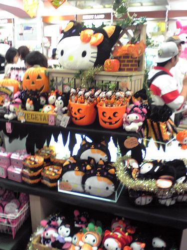 hello kitty halloween product shelf
