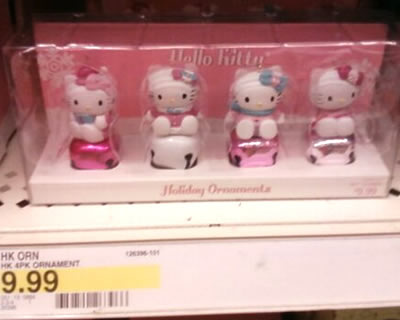hello kitty christmas bell ornaments at target