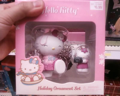 hello kitty christmas cheerleader ornament at target