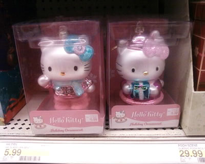 hello kitty larger christmas ornaments at target