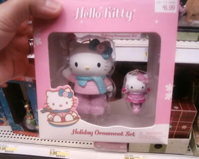 hello kitty holiday winter ornament at target