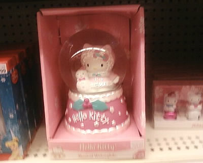 hello kitty water globe at target