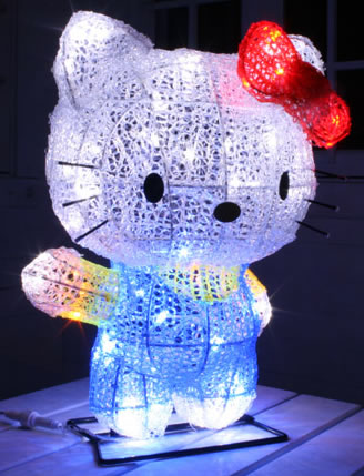 hello kitty 3d christmas lights