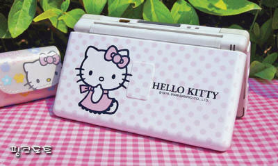 hello kitty ds lite pink polka dots