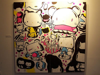 hello kitty disturbed painting