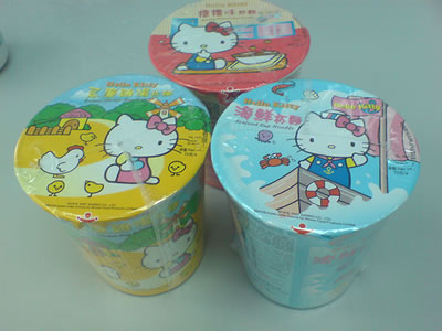 hello kitty instant ramen noodles