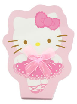 hello kitty ballet memo pad front