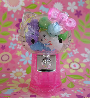 hello kitty pink gumball candy