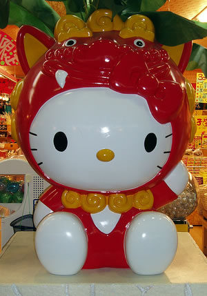 hello kitty store figure guardian