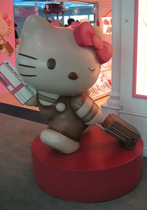 hello kitty store figure traveler