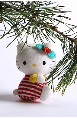 hello kitty urban outfitters candy cane ornament