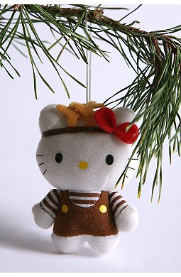 hello kitty urban outfitters reindeer ornament