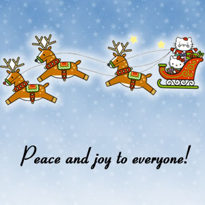 peace and joy to everyone