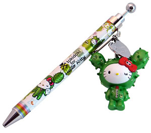 tokidoki for hello kitty cactus ballpoint pen